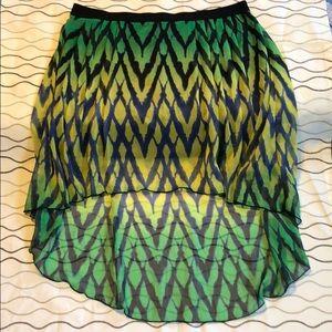 Fox high low skirt